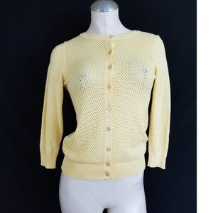 The Limited Size XS Yellow Cardigan